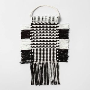 OPALHOUSE | Small Black & White Macrame Tapestry